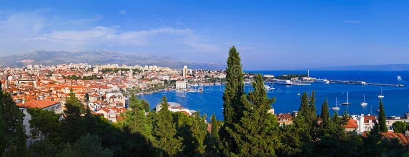 Panorama van Spleet, Kroatië stock fotografie