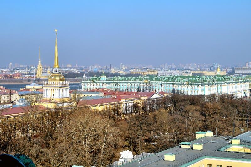 Panorama van St. Petersburg, panoramisch gezicht stock foto