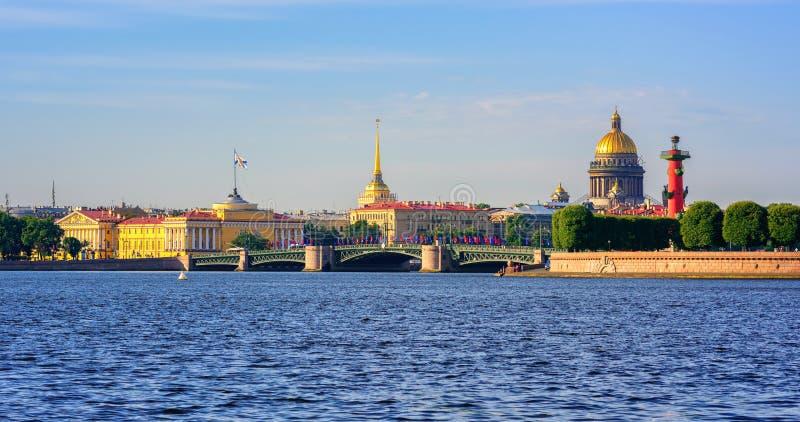 Panorama van St Petersburg, Rusland stock afbeelding