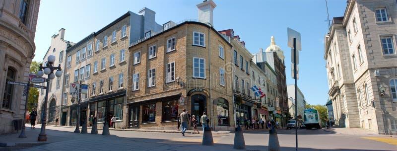 Panorama van Stad de van de binnenstad van Quebec royalty-vrije stock foto