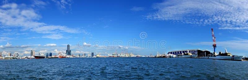 Panorama van Stad Kaohsiung royalty-vrije stock afbeelding