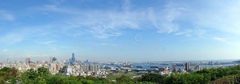Panorama van Stad Kaohsiung stock fotografie