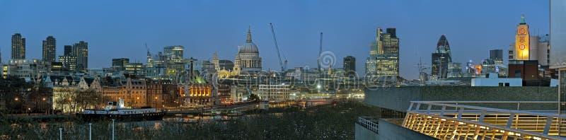 Panorama van Stad van Londen Engeland het UK Europa royalty-vrije stock afbeelding