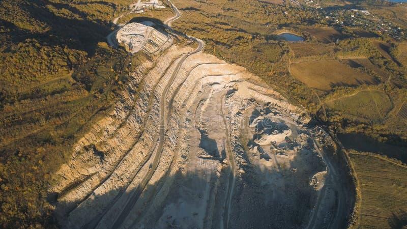 Panorama van steengroeve schot E royalty-vrije stock afbeeldingen