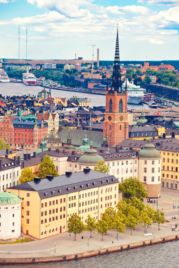 Panorama van Stockholm royalty-vrije stock foto's