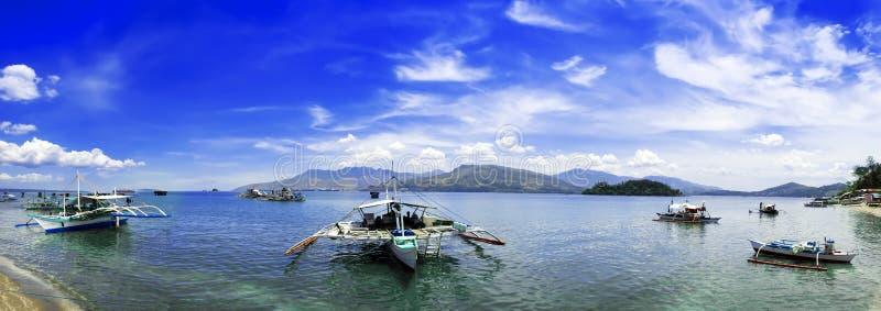 Panorama van Subic-Baai. royalty-vrije stock foto's