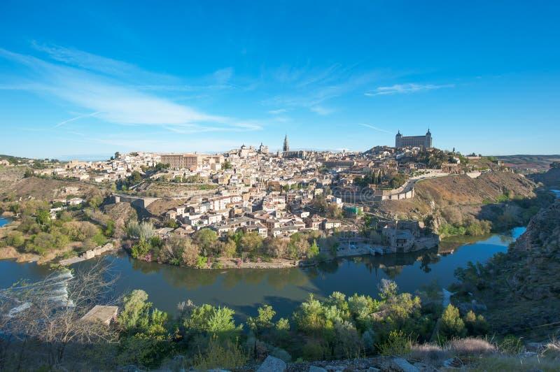 Panorama van Toledo, Spanje royalty-vrije stock foto