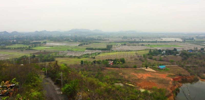 Panorama van toneelmening van plattelandslandschap stock foto