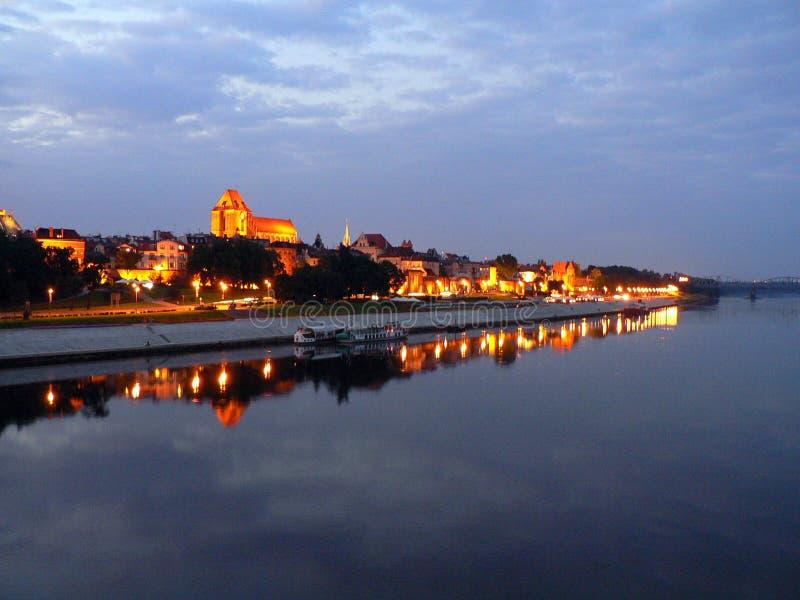 Panorama van Torun royalty-vrije stock fotografie