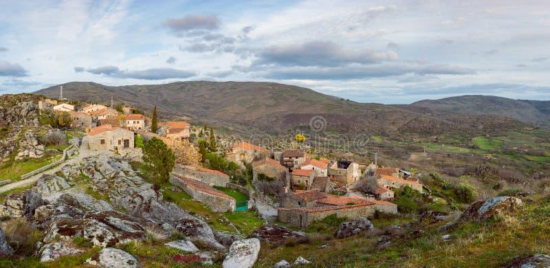 Panorama van Trevejo, Caceres, Extremadura, Spanje stock foto
