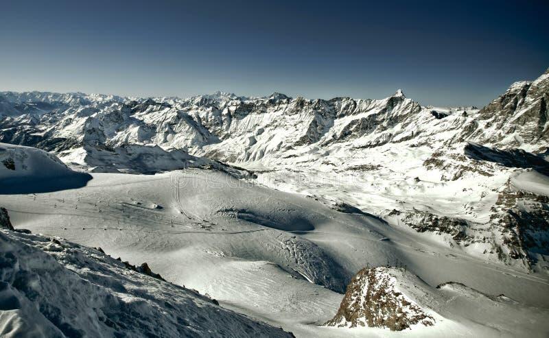 Panorama van Trieves (alpen) royalty-vrije stock foto's