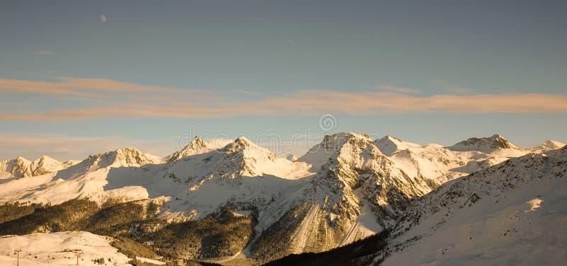 Panorama van Trieves (alpen) stock afbeeldingen