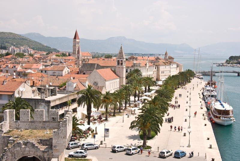 Panorama van Trogir royalty-vrije stock afbeelding