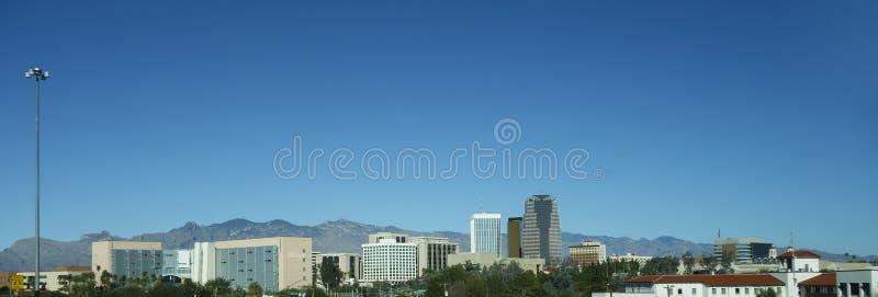 Panorama van Tucson de stad in, AZ royalty-vrije stock afbeelding