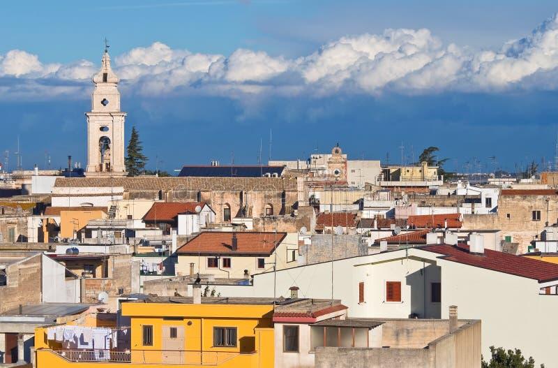 Panorama van Turi. Puglia. Italië. stock fotografie