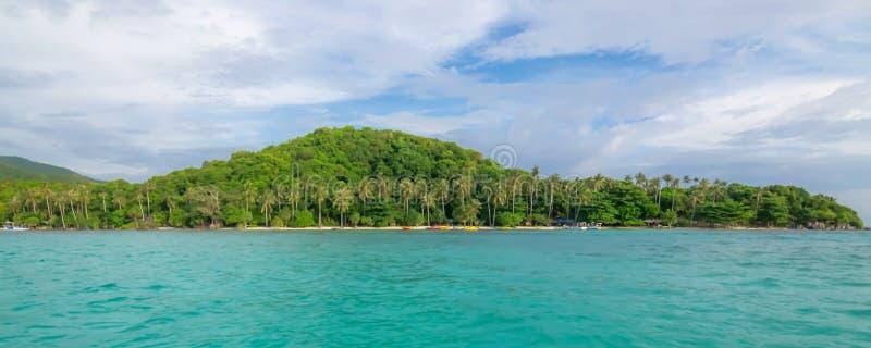Panorama van verborgen paradijs stock fotografie