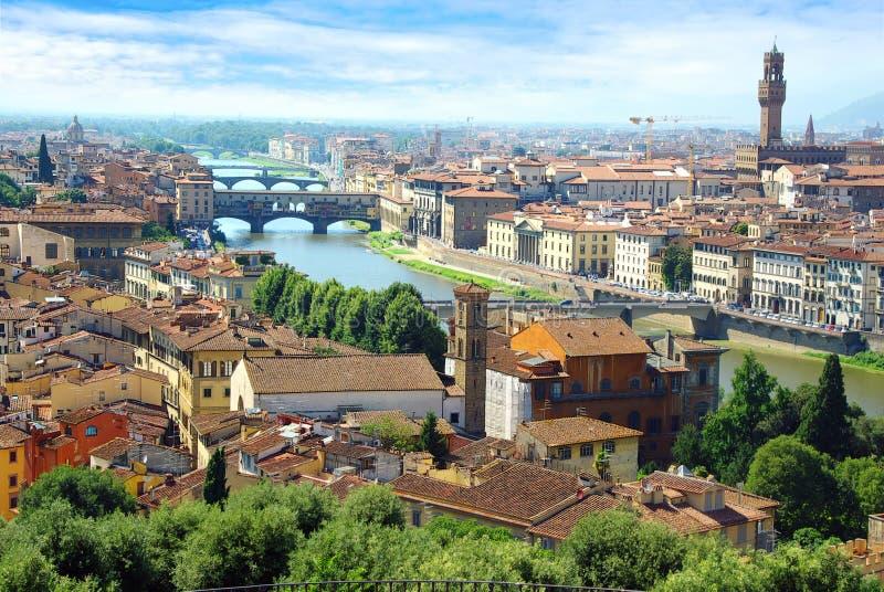 Panorama van Verona, Itali stock foto's