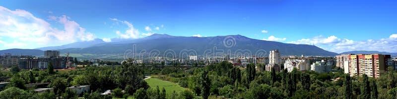 Panorama van Vitosha berg, Sofia, Bulgarije royalty-vrije stock afbeeldingen