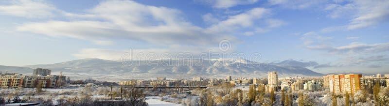 Panorama van Vitosha berg, Sofia, Bulgarije stock afbeelding