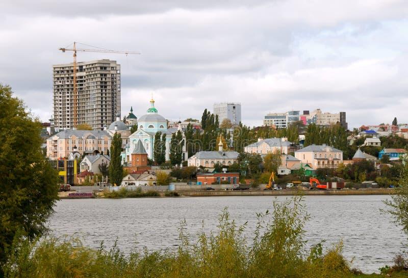 Panorama van Voronezh royalty-vrije stock afbeeldingen