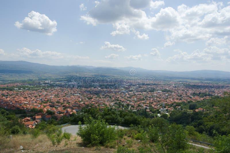Panorama van Vranje, Servië royalty-vrije stock fotografie