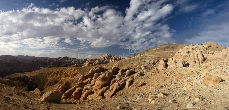 Panorama van Wadi Dana royalty-vrije stock foto's