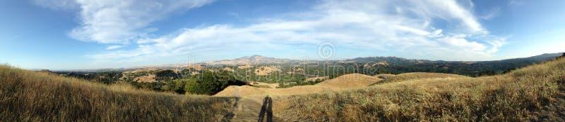 Panorama van Weiden in Californië royalty-vrije stock afbeelding