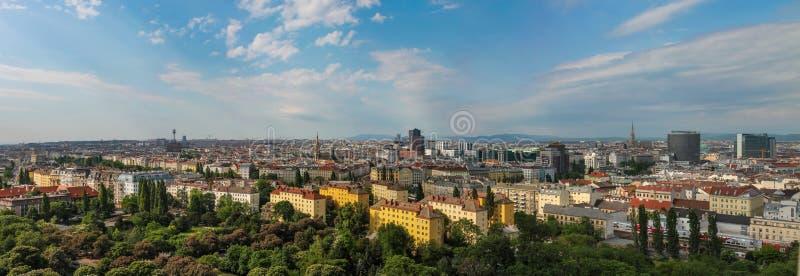 Panorama van Wenen van het Reuzenrad oostenrijk stock afbeelding