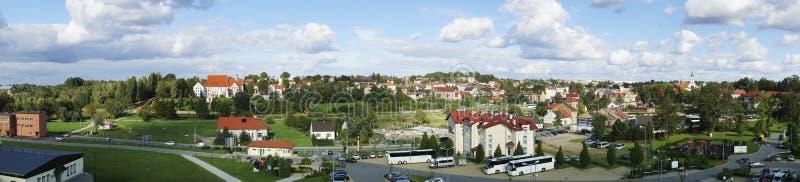 Panorama van Wieliczka-Stad in Polen stock fotografie