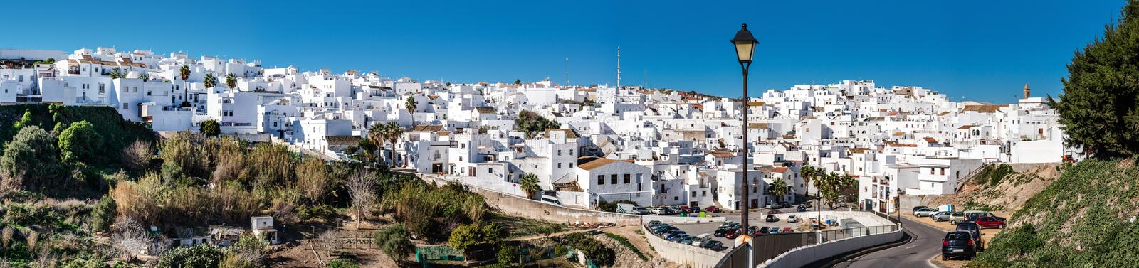 Panorama of Vejer de la Frontera. Costa de la Luz, Spain royalty free stock images
