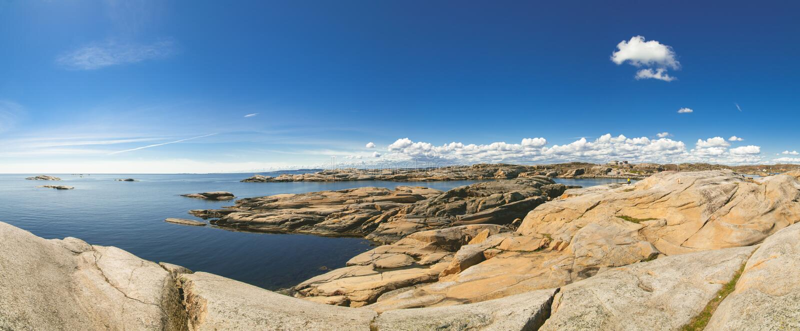 Panorama of Verdens End coast, Norway royalty free stock photo
