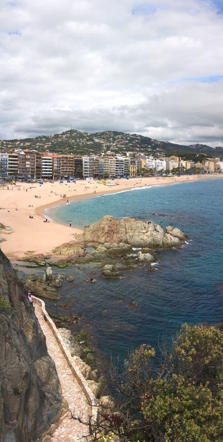 Panorama vertical de Lloret de marcha (Girona, España) imágenes de archivo libres de regalías