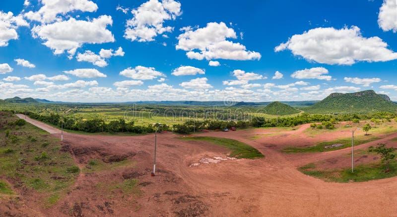 Panorama vertical, fotografiado del Cerro Pero en Paraguay imagen de archivo