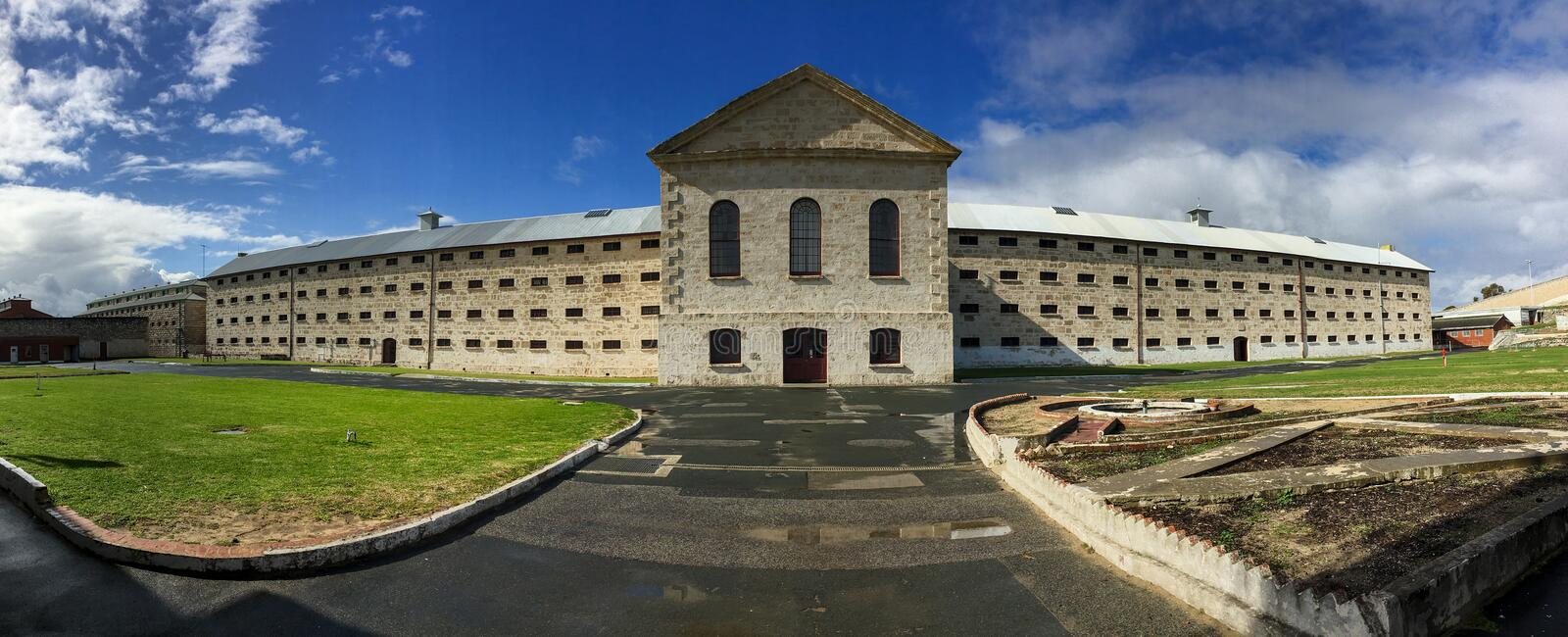 Panorama of the very old Fremantle Prison near Perth in Australia royalty free stock images