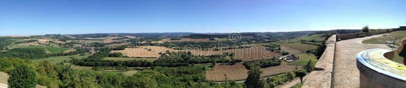 Panorama vezelay. Village de Bourgogne stock photos