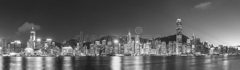 Victoria harbor of Hong Kong city stock photos