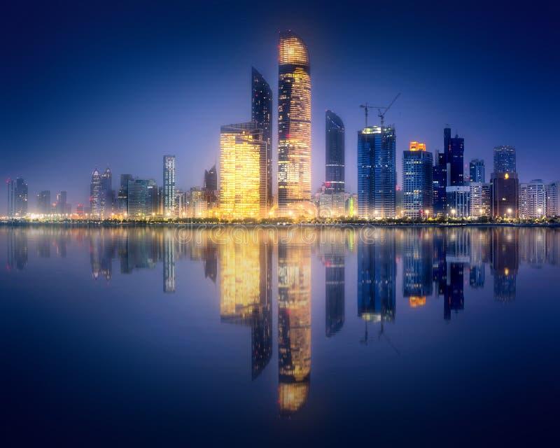 Download Panorama View Of Abu Dhabi Skyline At Sunset, UAE Stock Photo - Image of panorama, highrise: 110988290