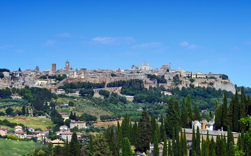Panorama view of the ancient town of Orvieto, Umbria, Italy royalty free stock photo