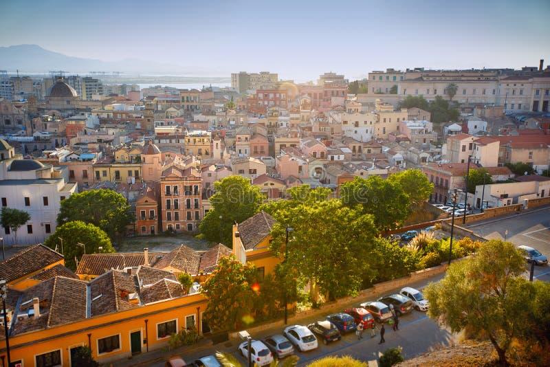 Panorama view of Cagliari, Sardinia, Italy, Europe stock photos