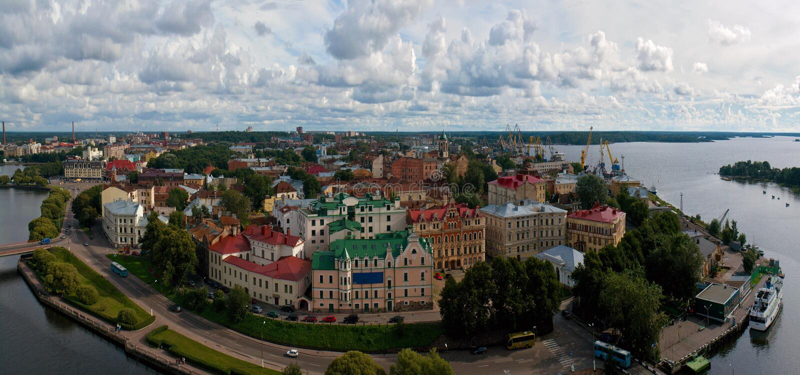 Panorama. View of the city of Vyborg. Leningrad region. Russia. royalty free stock images