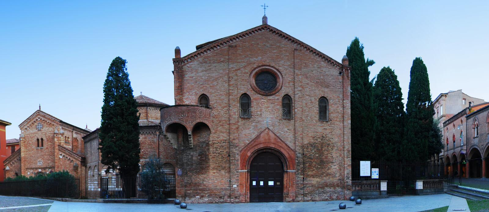 Panorama view of Complex of ancient temples Sette Chiese `Seven Churches` in Bologna, Italy. Panorama view of Complex of ancient temples Sette Chiese `Seven stock images