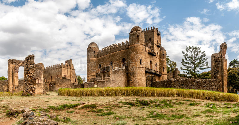 Panorama view at the Fasilides castle royalty free stock photo