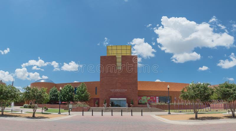Panorama view Fort Worth Museum of Science and History royalty free stock photography