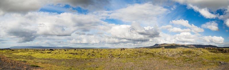 Panorama view, Iceland. Beautiful landscape panorama of Iceland royalty free stock image