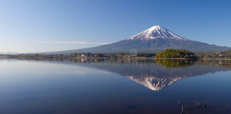 Panorama view of Mountain Fuji stock image