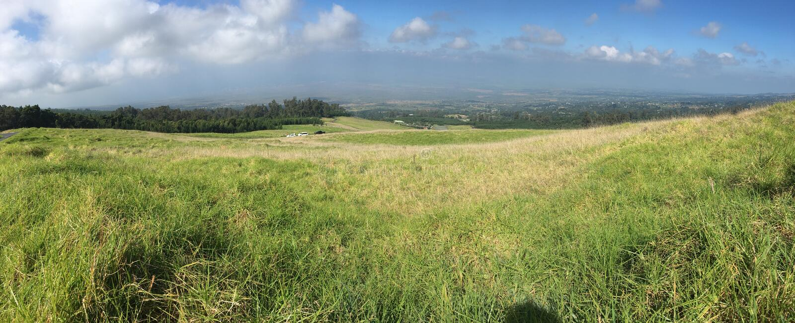Panorama view onthe hill side stock photos