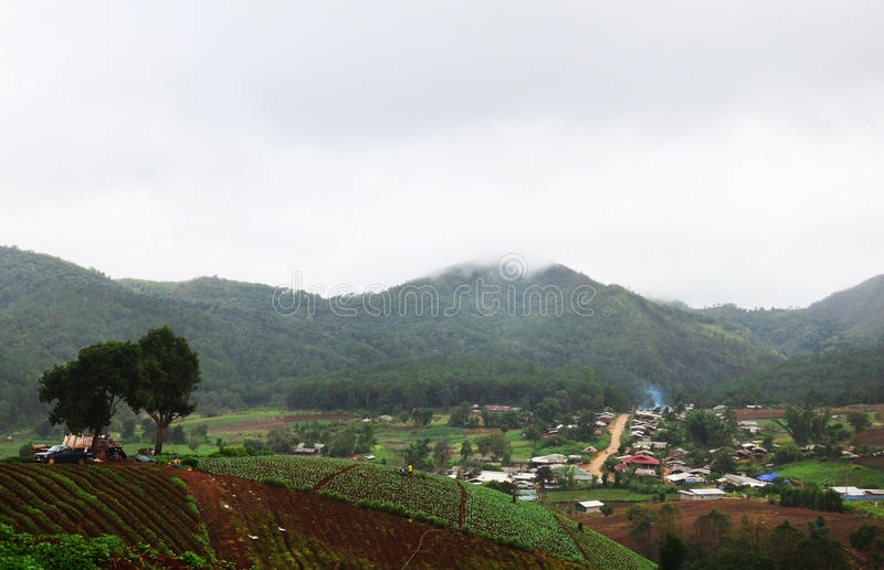Panorama View point at, Mae Hong Son Province of North Thailand stock photography