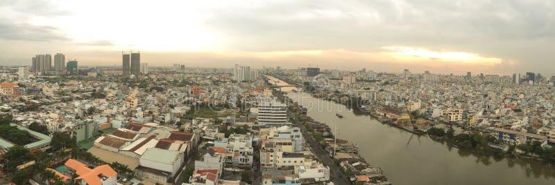 Panorama view of Saigon, Vietnam stock photography
