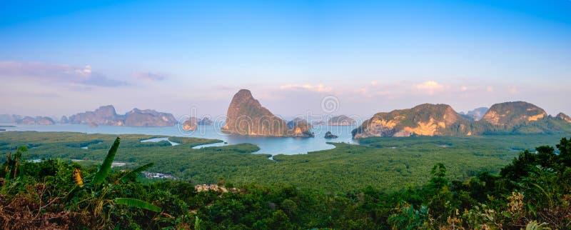 Panorama view at Samet Nangshe royalty free stock photo