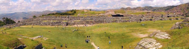 Panorama View of Saqsaywaman, Peru royalty-vrije stock fotografie